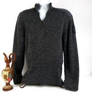 Calvin Klein Jeans Mens Quarter Zip Ribbed Sweater